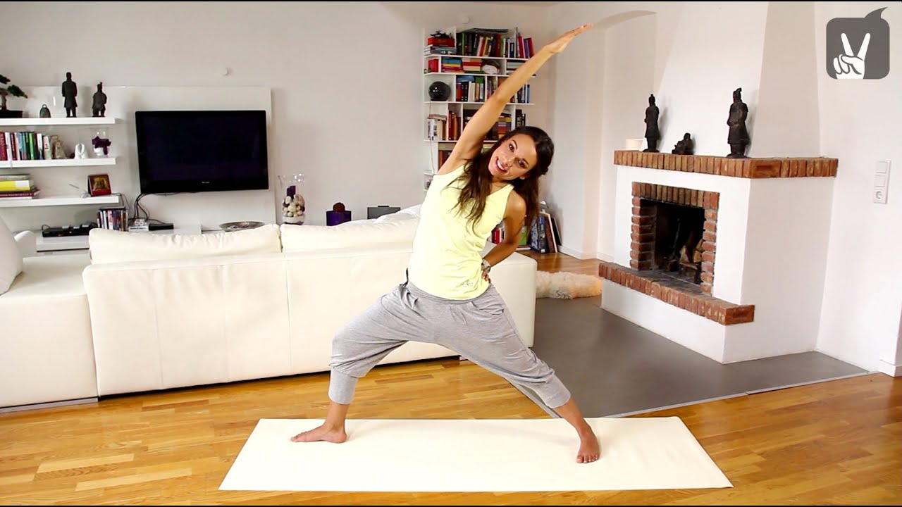 yoga f r anf nger core programm f r bauch und taille youtube. Black Bedroom Furniture Sets. Home Design Ideas