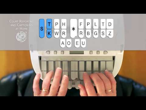 How to Write on the Steno Machine - CALL 877-253-0200 Court Reporting and Captioning at Home