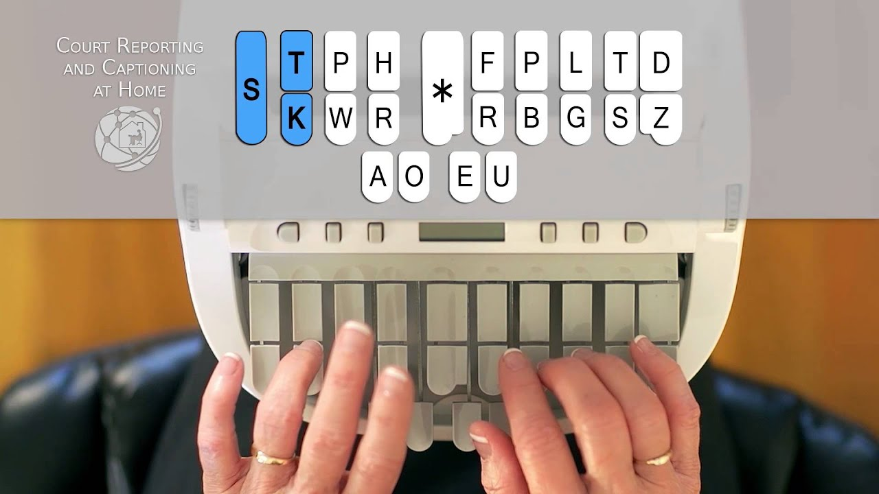 How to Write on the Steno Machine  CALL 8772530200 Court Reporting and Captioning at Home