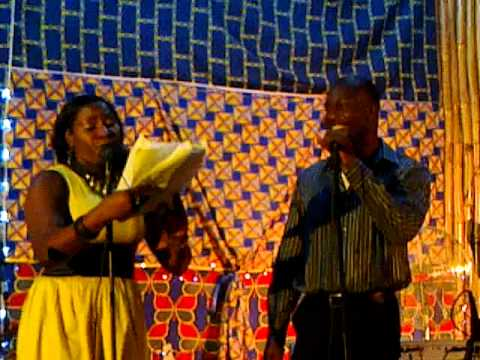 A relaxing duet...at the Ayo Bankole Center for Arts