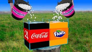 Experiment: Coca Cola VS Mentos u0026 Fanta VS Mentos