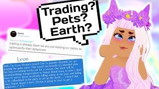 TRADING IS COMING? SUNSET ISLAND? NEW EARTH? // Roblox Royale High School
