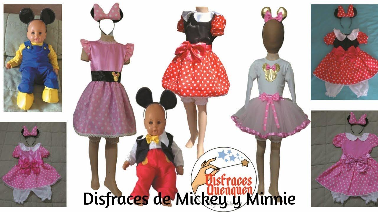 Disfraces de Mickey Mouse y Minnie para niños. Ideas de disfraces para  niños. - YouTube