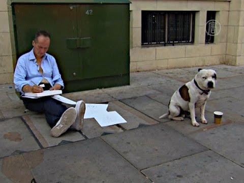 Собака помогла бездомному