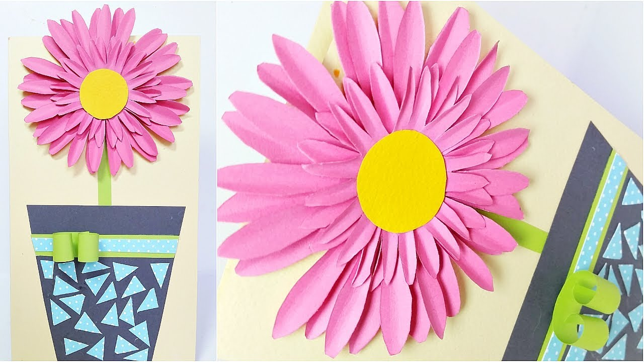 Floral birthday flowers card design ideas diy 3d handmade cards for floral birthday flowers card design ideas diy 3d handmade cards for birthday tutorial step by step izmirmasajfo