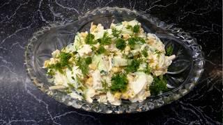 """Салат """"Обжорка"""" с копчёным сыром"""