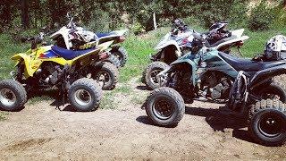 Quad Vlog - Walka w trudnym terenie + wypadek - Small quad bike + big hill = Fail & Crash