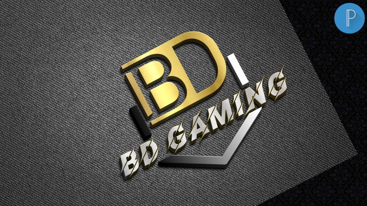 B D Gaming Logo Professional Pixellab Logo Design Tutorial Vandy Design Youtube