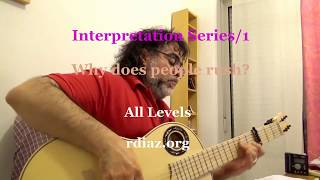 Interpretation series 1. Why people speed up in rhythm  /Learn on Skype Paco de Lucia´s flamenco