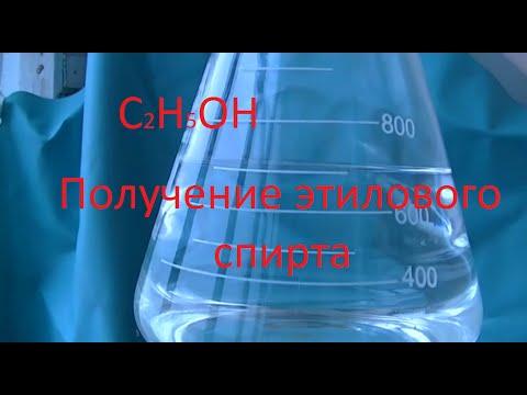 Получение этилового спирта