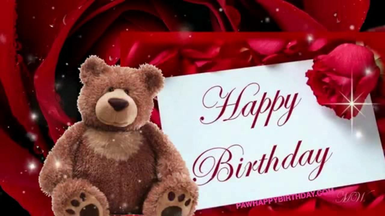 Happy Birthday Song With Teddy Bear - YouTube