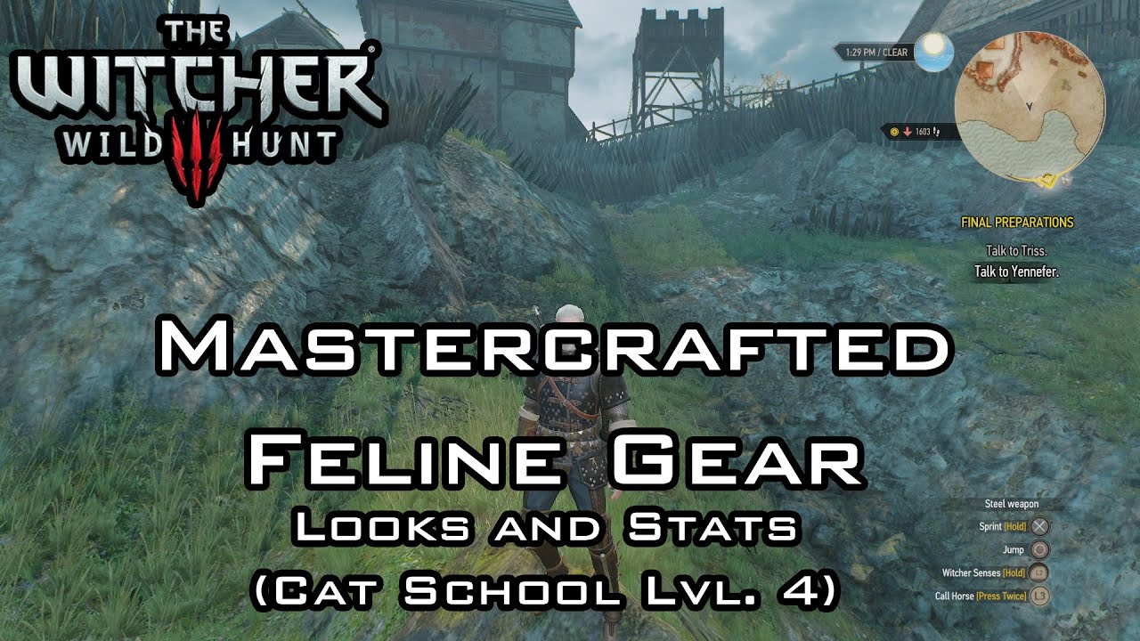 The Witcher 3: Wild Hunt - Mastercrafted Feline Gear - Looks and ...