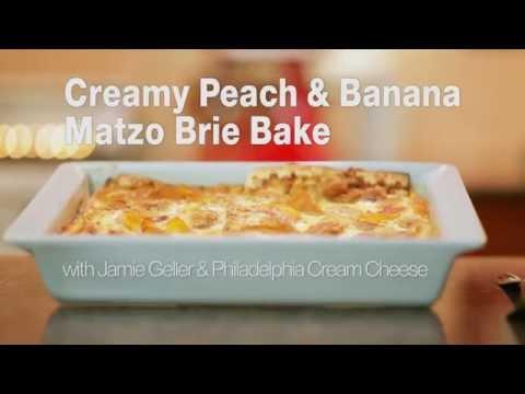 Creamy Peach & Banana Matzo Brei Bake...