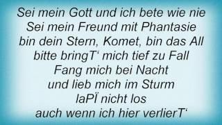 Rosenstolz - Sei Mein Gott Lyrics