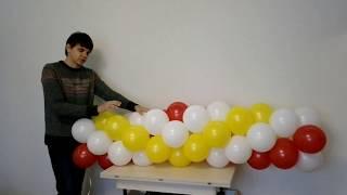 Гирлянда из воздушных шаров сборка
