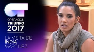 India Martínez visita la Academia   OT 2017