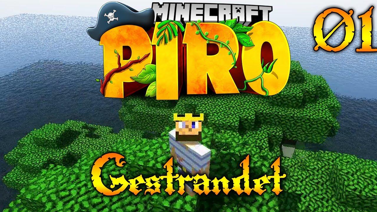 GESTRANDET ???? #01 ???? Minecraft PIRO - CoRRoNa