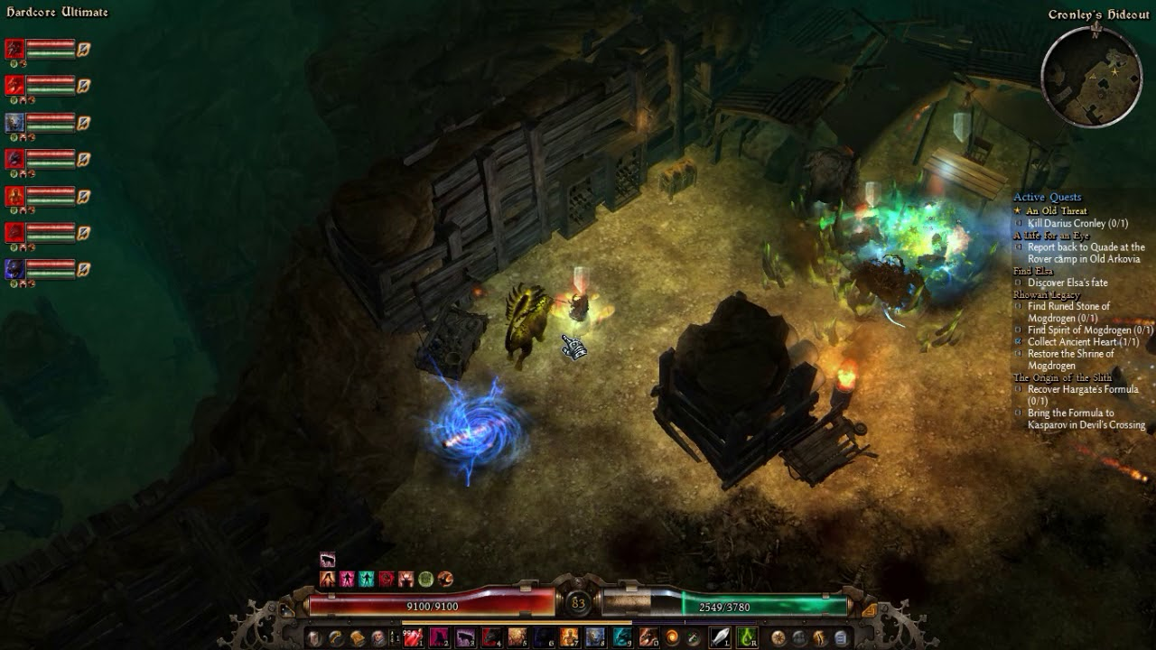 Grim Dawn - Darius Cronley boss fight, Fast Kill on (Hardcore Ultimate) No  Damage