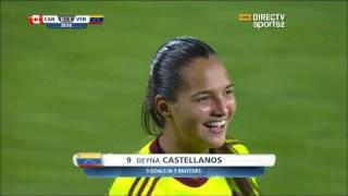 Gol de Deyna Castellanos ante Canadá Mundial Femenino Sub17