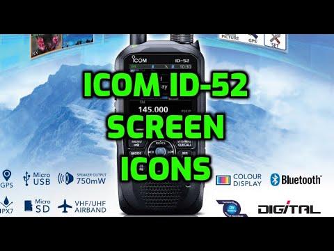 ICOM ID52 -SCREEN ICONS