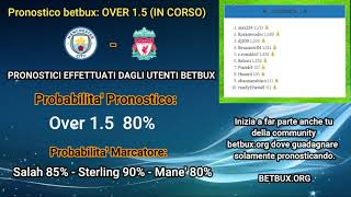 #38 - pronostico manchester city liverpool 08/11/20 ore: 17.30 & classifica betbux!!!