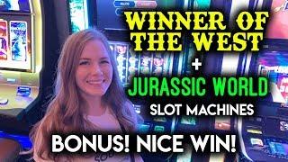 JURASSIC WIN!! Winner of The West Slot Machine + Jurassic World BONUS!