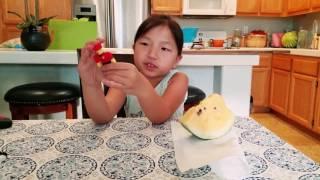 Caliyah Eats Yellow Watermelon and Talks ROBLOX