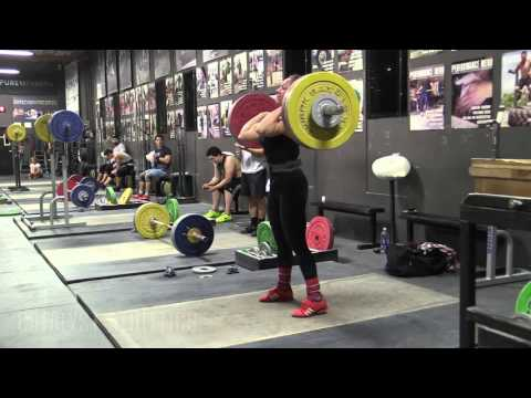 Jocelyn Forest-Haynes (63kg) Heavy Snatch and Clean & Jerk, Front Squats