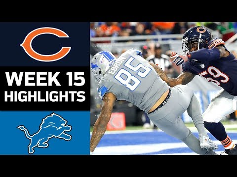 Bears vs. Lions | NFL Week 15 Game Highlights