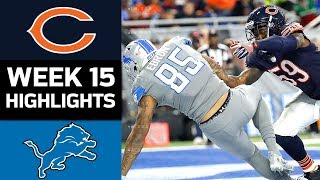 Bears vs. Lions | NFL Week 15 Game Highlights