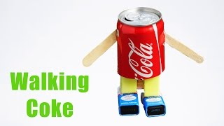 How to Make Walking Robot at Home Using Coke Can
