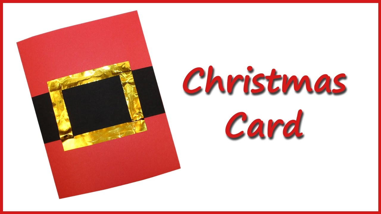 Make your own Christmas card - YouTube