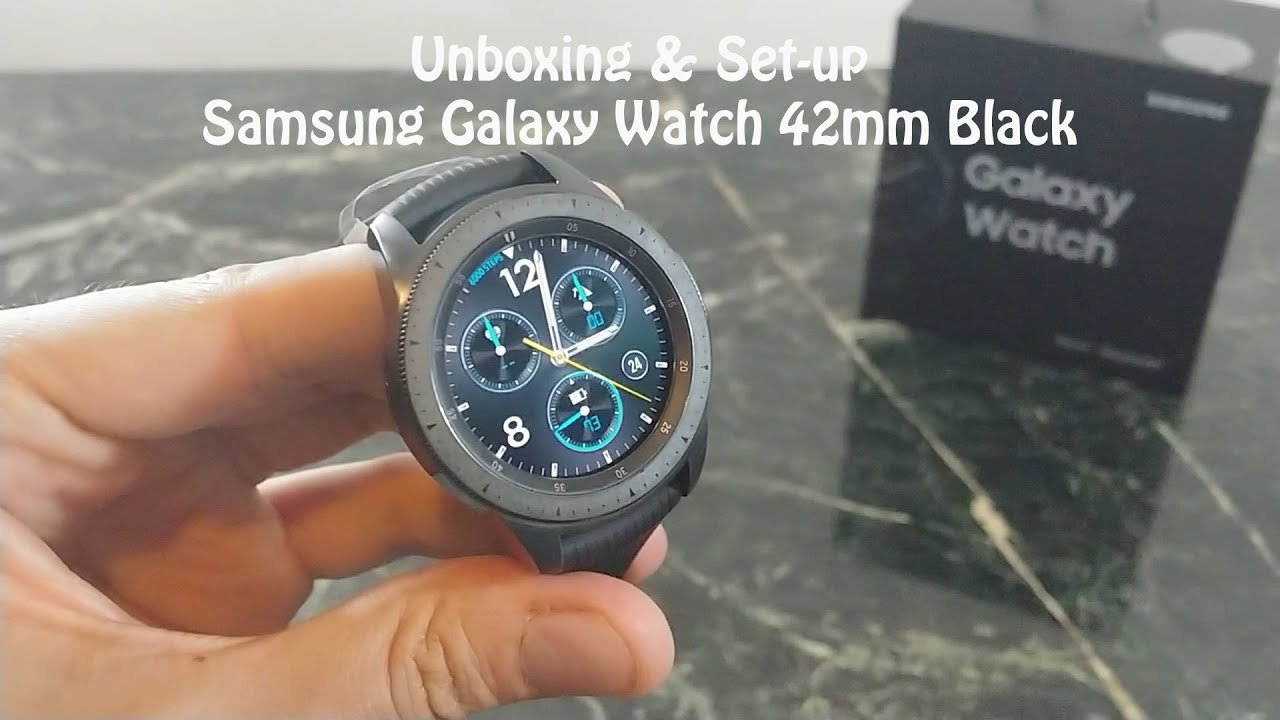 Samsung Galaxy Watch 42mm Black Unboxing And Set Up Youtube