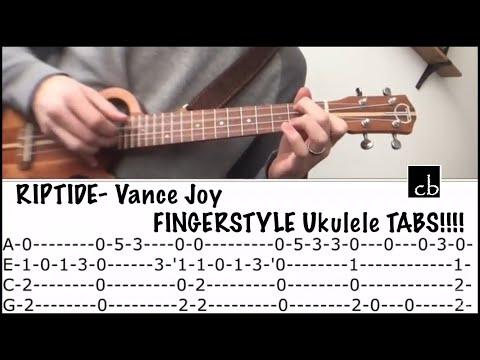 RIPTIDE (Vance Joy) FINGERSTYLE Ukulele TUTORIAL