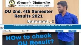OU Degree 2nd and 4th Sem Results/How to Check OU Result/ OU BA, BBA, Bcom, BSC Results Check now