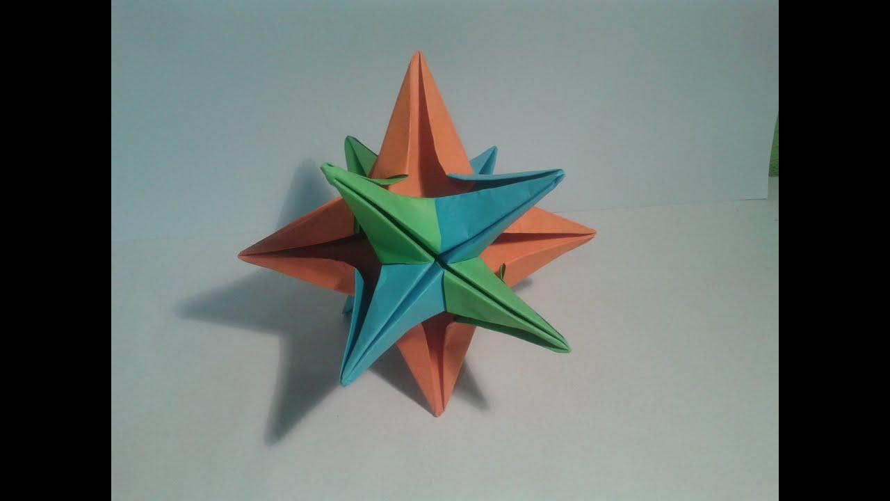 Como hacer una estrella de 12 puntas origami youtube - Origami de una estrella ...