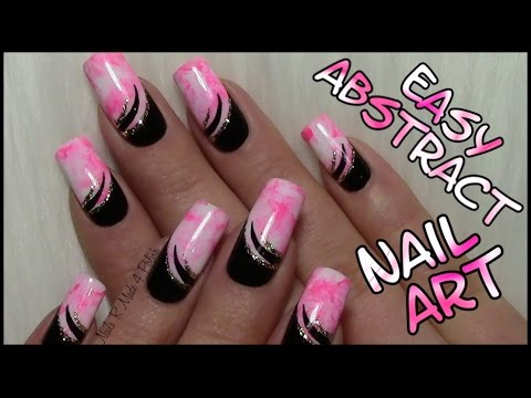 Abstact Party Nails Easy Nail Art Design Tutorial For Long Nails