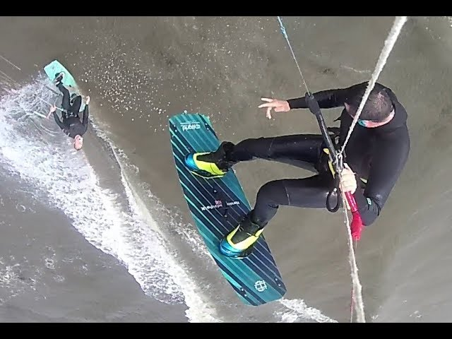 kitesurfing at longniddry edinburgh scotland