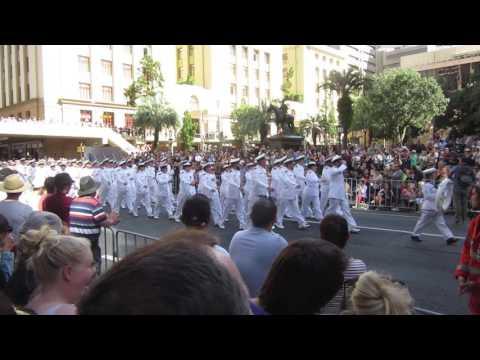 HMA Naval Units on Parade - ANZAC Day 2017 - Brisbane, Qld.