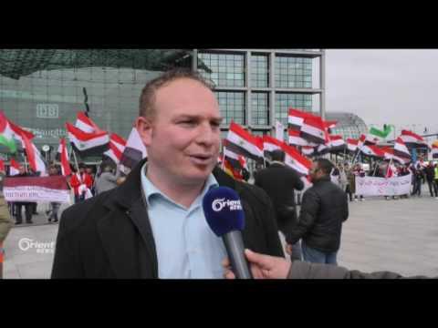 الأحوازيون يتظاهرون في برلين ضد النظام الإيراني  - 13:20-2017 / 4 / 22