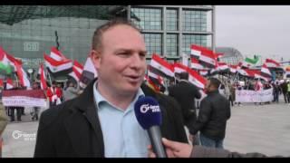 الأحوازيون يتظاهرون في برلين ضد النظام الإيراني