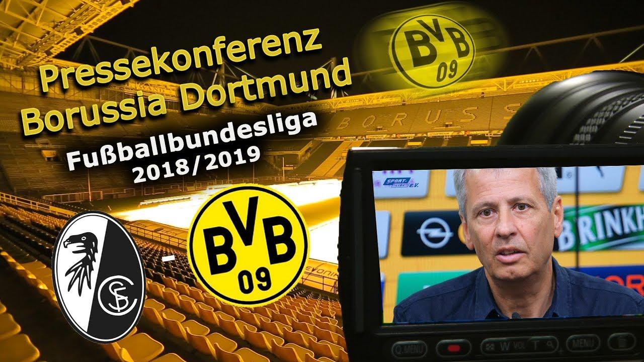BVB-PK mit Lucien Favre vor dem Spiel in Freiburg