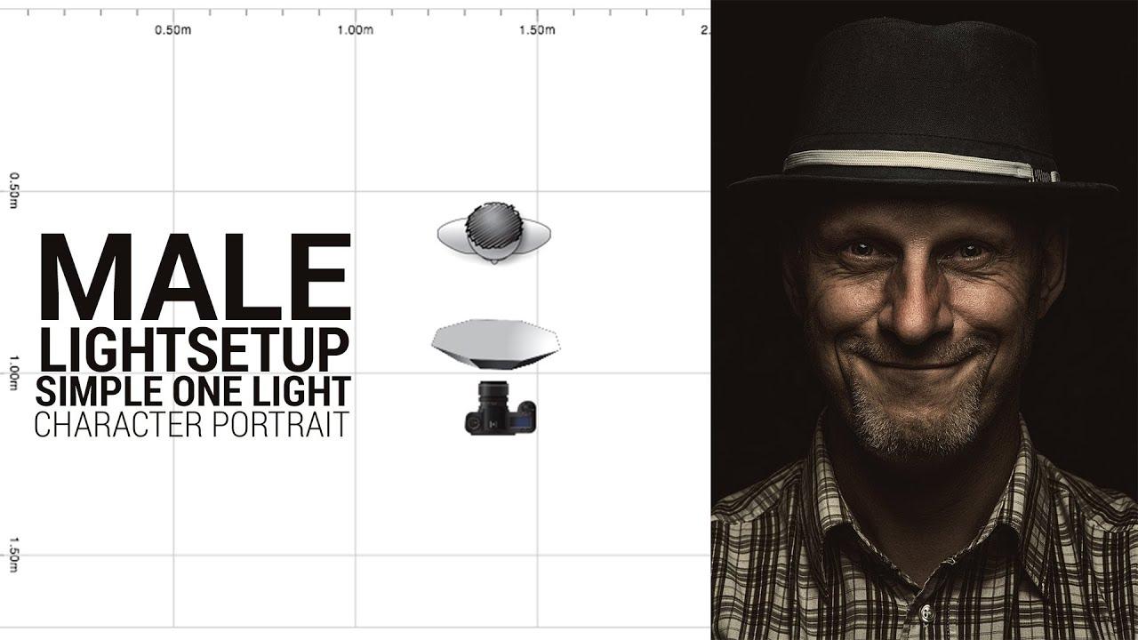 sc 1 st  YouTube & Light Setup: Male Character Portrait - Setup + Editing - YouTube azcodes.com