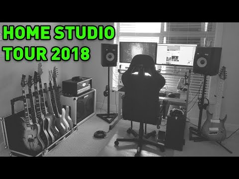 My New Home Studio Set Up! 6, 7, 8, 9 String Guitars, My PC, and More!