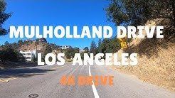 Mulholland Drive - 4K Drive from Hollywood Hills to Encino Hills - Celebrity Homes