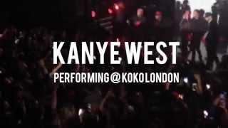 "Kanye West performs ""#ALLDAY"" at Koko London | @BespokeMag"