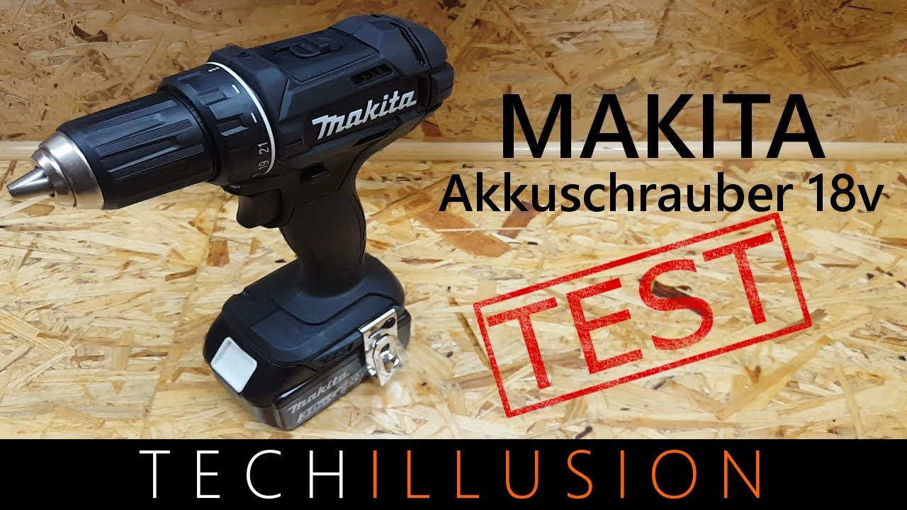 makita akkuschrauber ddf482 test youtube