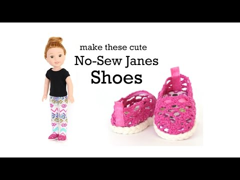 graphic about 18 Inch Doll Shoe Patterns Free Printable titled How Towards Deliver No Sew Janes Footwear Including Toms for American Lady