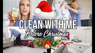 FESTIVE CLEAN WITH ME | GETTING READY TO DECORATE THE HOUSE FOR CHRISTMAS | POWER HOUR 2018