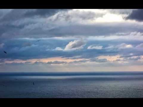 A sunset and sunrise in San Sebastian, Spain..beauty of the  Biscay Bay.